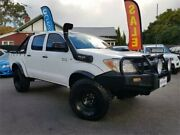 2008 Toyota Hilux KUN26R 07 Upgrade SR (4x4) White 5 Speed Manual Dual Cab Pick-up Mount Hawthorn Vincent Area Preview