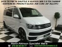 2016 16 Volkswagen Transporter Shuttle T6 9 Seater LWB Edition RS 2.0 TDi