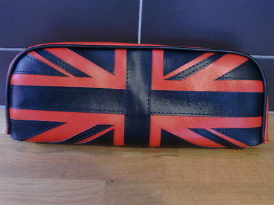 AJS Modena Back Pad Cover Black & Red Union Flag