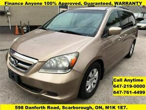2006 Honda Odyssey EX FINANCE 100% GUARANTEED APPROVED WARRANTY