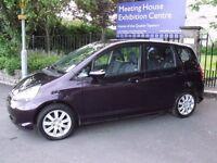 Automatic black honda jazz 5dr 2007 1.4 petrol