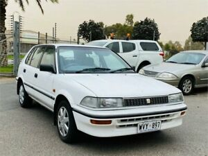 1993 Toyota Corolla AE92 SE White 3 Speed Automatic Hatchback Mawson Lakes Salisbury Area Preview