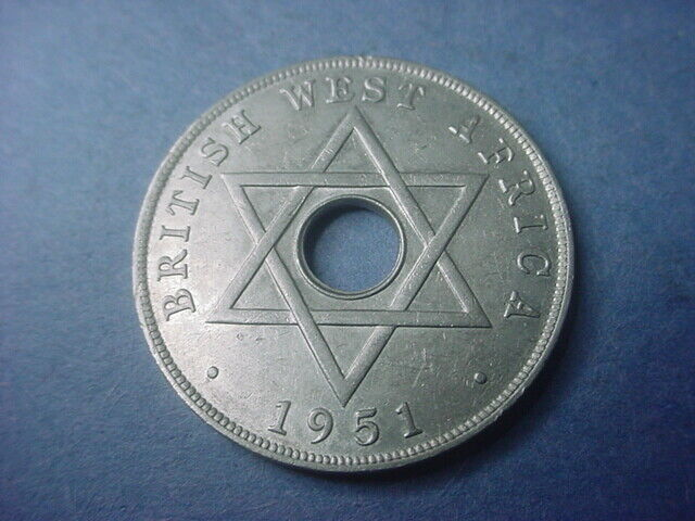 British West Africa 1 Penny 1951 KN #36852