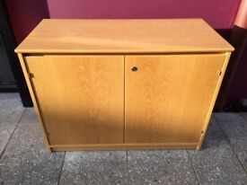 Oak lockable cabinet