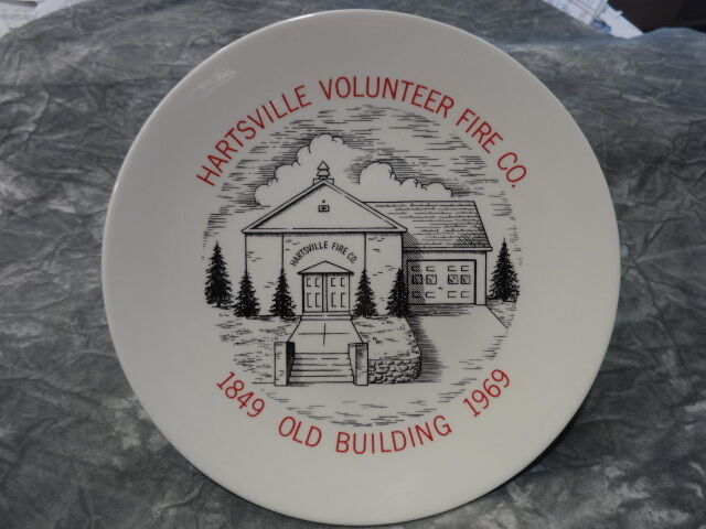 HARTSVILLE FIRE COMPANY PLATE WARMINSTER BUCKS 1849 1969 LYCEUM LECTURE HALL
