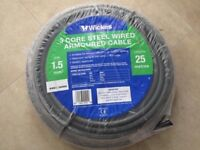 Armoured 3 Core Electrical Cable