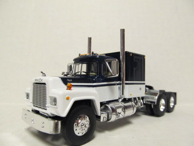 1ST GEAR 1/64 SCALE R MODEL MACK, SLEEPER CAB, WHITE & BLUE,    DCP SCALE