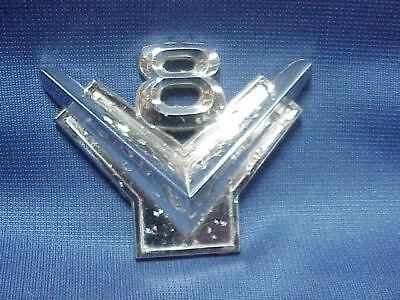 Ford V8 Chrome Emblem hood, grille,  or fender ornament