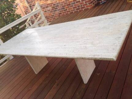 10 Seater Travertine Marble Look Table Dining Tables Gumtree Australia