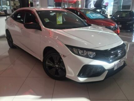 2018 Honda Civic 10th Gen MY18 VTi White 1 Speed Constant Variable Hatchback Ravenhall Melton Area Preview