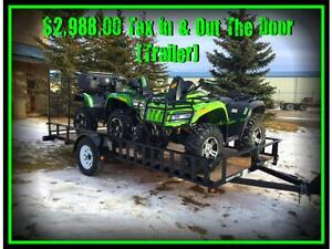 "NEW  77"" x 14ft Utility Trailer by SWS -*-*Side Loading Ramps*-"