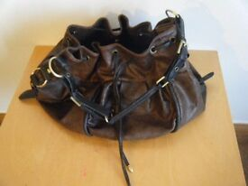 **REDUCED PRICE** Ladies NEXT dark brown mock leather bag