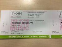 "3 ""Miranda sings live"" tickets"
