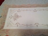 Home Decor:2 Vintage Crocheted Table Runners.Mint .No Stains.