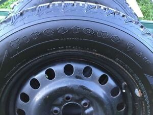 Firestone Winterforce 245 65R17 winter tire with 5x114 17 rims