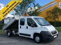 2012 /12 Citroen Relay 35 L3 HDi 130 D/Cab Tipper Alloy body Low Mileage