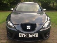 2008 SEAT Leon 2.0 TDI FR 6 speed gearbox Powerful car with retaining 55+ mpg brilliant of diesel