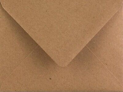 5x7 Kraft Envelopes 50 Pack Fleck Recycled 110gsm 133mm x 184mm by Cranberry