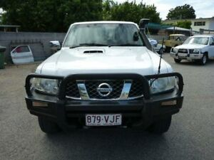 2008 Nissan Patrol GU 6 MY08 ST White Manual Wagon Rosslea Townsville City Preview