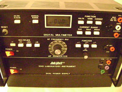 Lab-volt 1242 Digital Multimeter Af Generator Dual Power Supply Trainingeduc