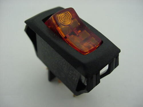 Carling Toggle Switch SPST LRA911-C T55  Amber Lighted 240V Ships the Same Day