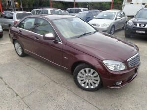2007 Mercedes-Benz C200 W204 Kompressor Elegance Red 5 Speed Auto Tipshift Sedan Sylvania Sutherland Area Preview