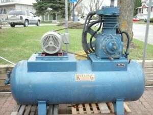 compresseur air  kellogg  ( u.s.a. ) 15 hp . 63 cfm. 80 galls