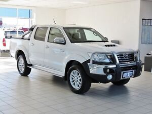 2012 Toyota Hilux KUN26R MY12 SR5 (4x4) White 5 Speed Manual Dual Cab Pick-up Morley Bayswater Area Preview