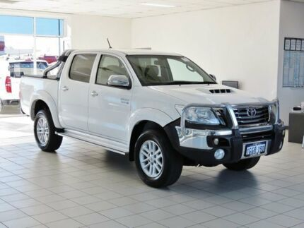 2012 Toyota Hilux KUN26R MY12 SR5 (4x4) White 5 Speed Manual Dual Cab Pick-up
