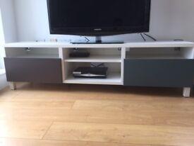 TV furniture (Valviken drawers and Bestas). New. Perfect condition.