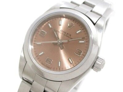 Auth ROLEX Oyster Perpetual 76080 Silver Women