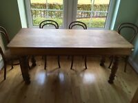 Dining Table and 6 Bentwood Chairs