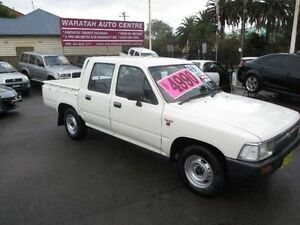 1994 Toyota Hilux RN85R SR5 White 5 Speed Manual Dual Cab Pick-up Waratah Newcastle Area Preview