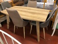 New oak effect Dining table get it today £119