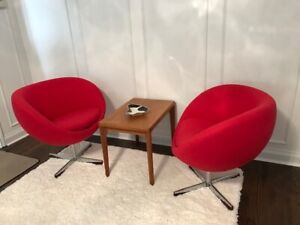 MCM Vintage Danish Planet Lounge Chairs 1960's (Pair)