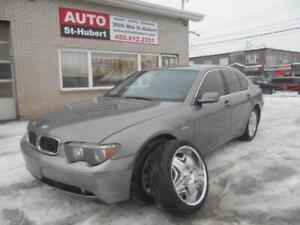 BMW 745I 2002 ** MAGS 20'' CHROME INCLUS **