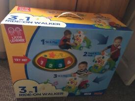 Little Learner 3 in 1 Ride-on Baby Walker Age 9 Mths (music Lights)