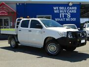 2015 Toyota Hilux KUN26R MY14 SR Double Cab White 5 Speed Manual Cab Chassis Welshpool Canning Area Preview