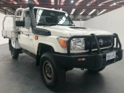 2015 Toyota Landcruiser VDJ79R WORKMATE White Manual CAB CHASSIS SINGLE CAB Fyshwick South Canberra Preview