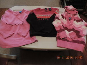 Size 4T Girl's Name brand Sweaters