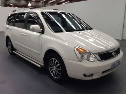 2011 Kia Carnival VQ MY11 S White 4 Speed Automatic Wagon