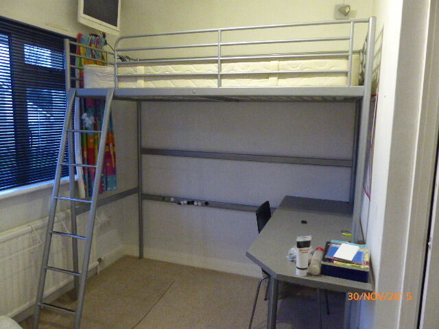 Ikea Svarta Loft Bed And Desk For Sale In Radyr Cardiff