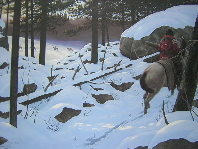 Harry Antis Passing in Winter Silence Native American Limited Edition Art Print