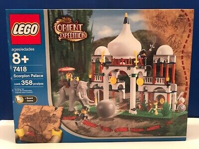 LEGO Orient Expedition Scorpion Palace 7418 new sealed Elephant Retired RARE