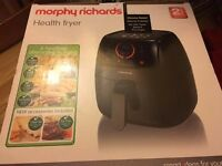 Brand new health fryer, 2 yr warranty, Morphy Richards Health Fryer, 3 Litre - unwanted present £50