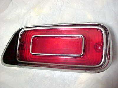 1971 Dodge Dart Tail Light Lens NOS Mopar Stainless Trim Style