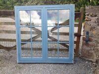 Windows hard wood cottage style x 2