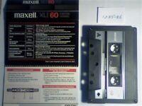 8x DIFFERENT MAXELL CASSETTE TAPES 1985-1987. XLI 60/90, UL 90, UR 60/90/120, XLII-S 46, UDII 46.