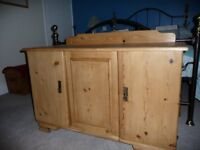 Old pine cupboard / low sideboard for toys, shoes, storage