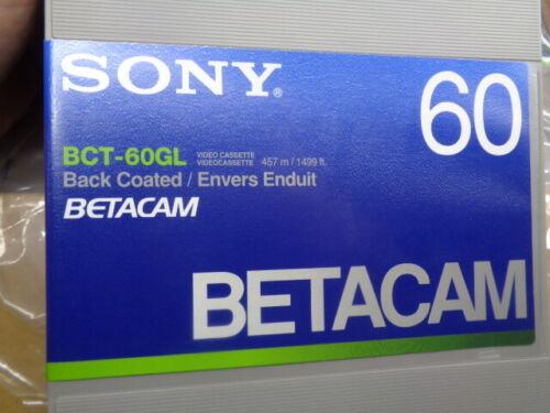 ESTATE* NOS CASE OF 10 BROADCAST SONY BCT-60GL BETACAM VIDEO CASSETTE TAPES
